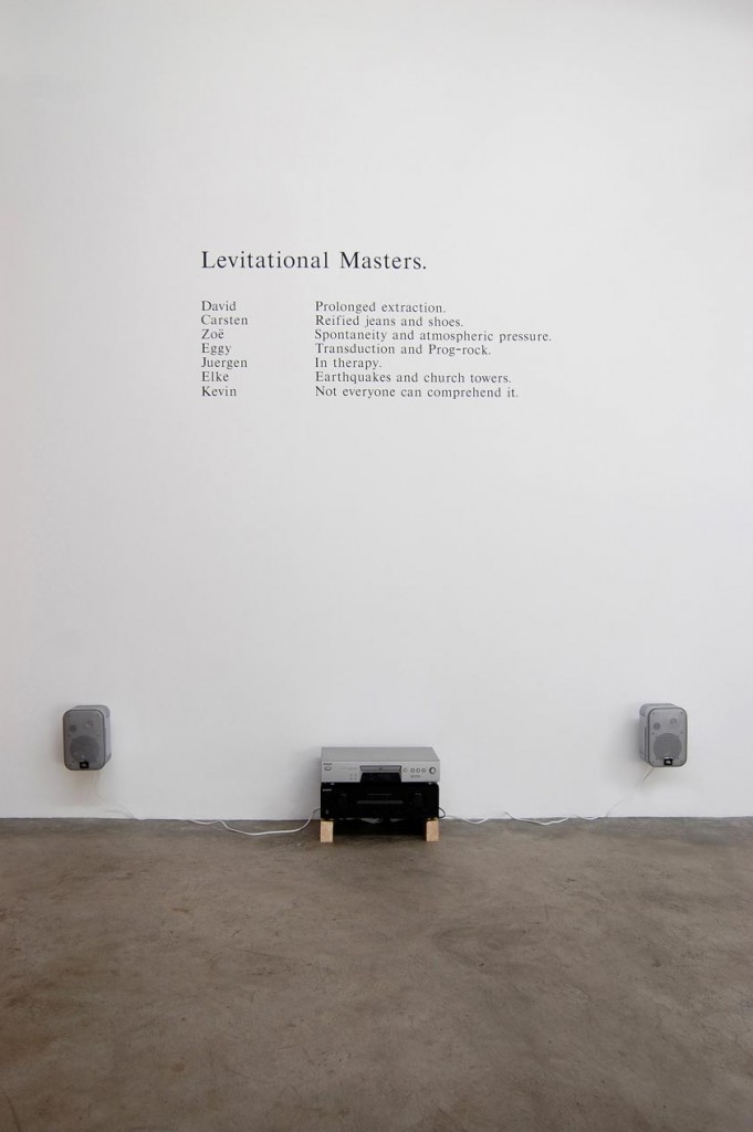 6_David-Sherry_Regulations-for-irrational-procedures_Levitational-Masters_copyright-the-artist-and-mothers-tankstation