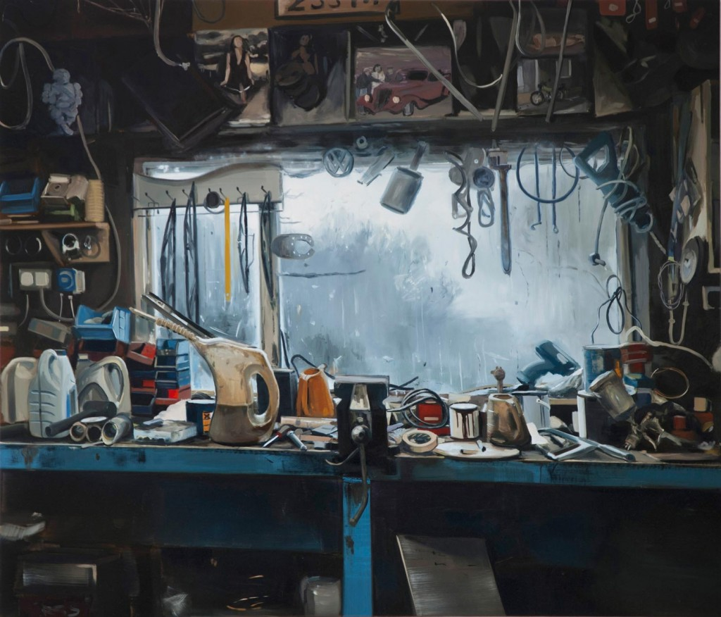 7_Kevin-Cosgrove_Just-the-usual_Workshop-with-blue-bench_copyright-the-artist-and-mothers-tankstation