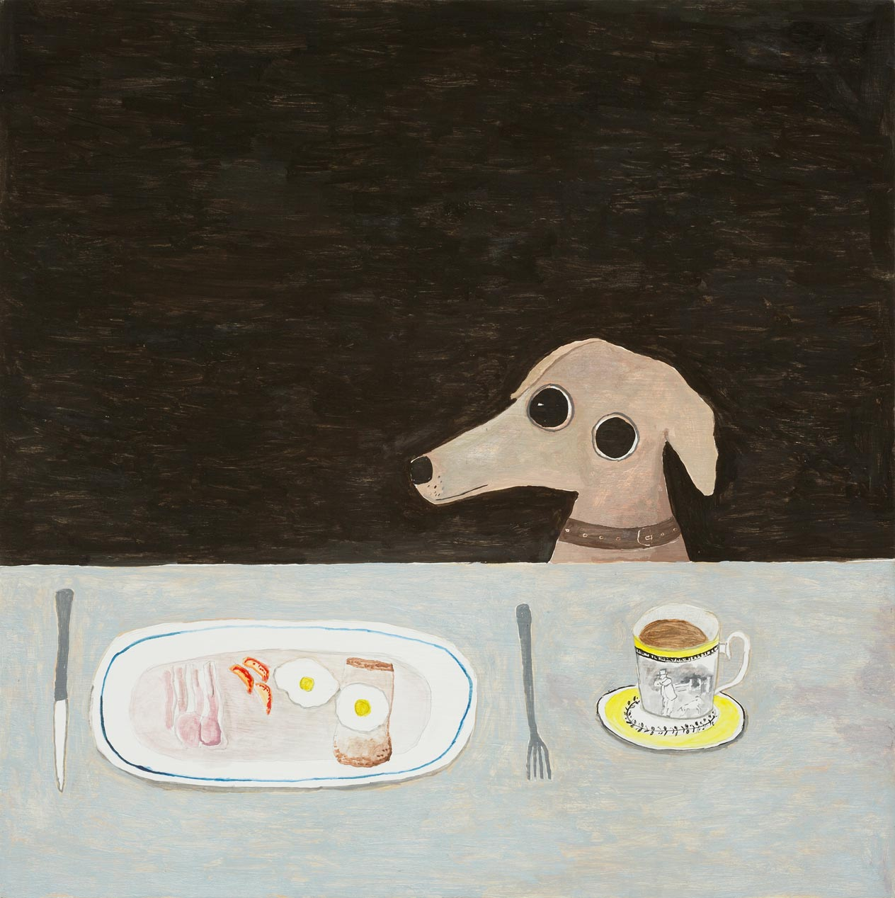 Noel-McKenna_Dog-at-breakfast-table_copyright_the-artist-and-mother's-tankstation