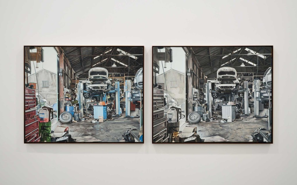 Kevin-Cosgrove_Tire-Centre_diptych_Oil-on-linen-©-mother's-tankstation_hr