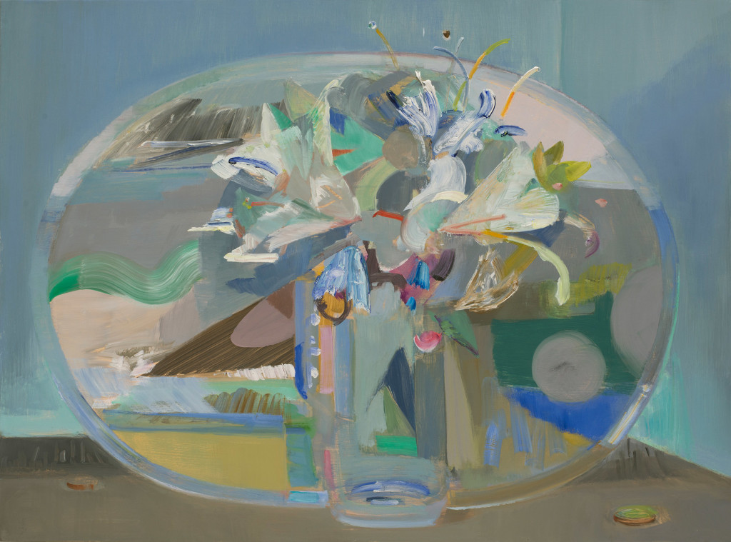 Mairead-O'hEocha_Mirror-Lilies,-large_2016_Oil-on-linen_52-x-70-cm_Copyright-the-artist-and-mother's-tankstation-limited