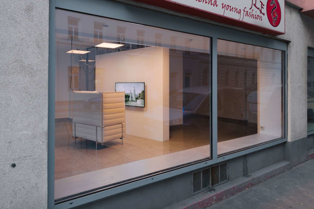 1.Yuri Pattison_Citizens-of-Nowhere_Installation-View_Window-view_Copyright the artist and mother's tankstation limited