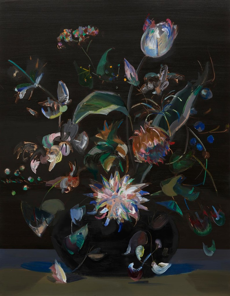 Mairead-O'hEocha_Bouquet-with-Chrysanthemum-after-Rachel-Ruysch_Oil-on-board_80-x-62cm_2017