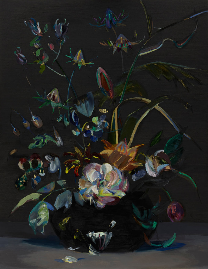 Mairead-O'hEocha_Bouquet-with-Rose-after-Rachel-Ruysch_Oil-on-board_80-x-62cm_2017