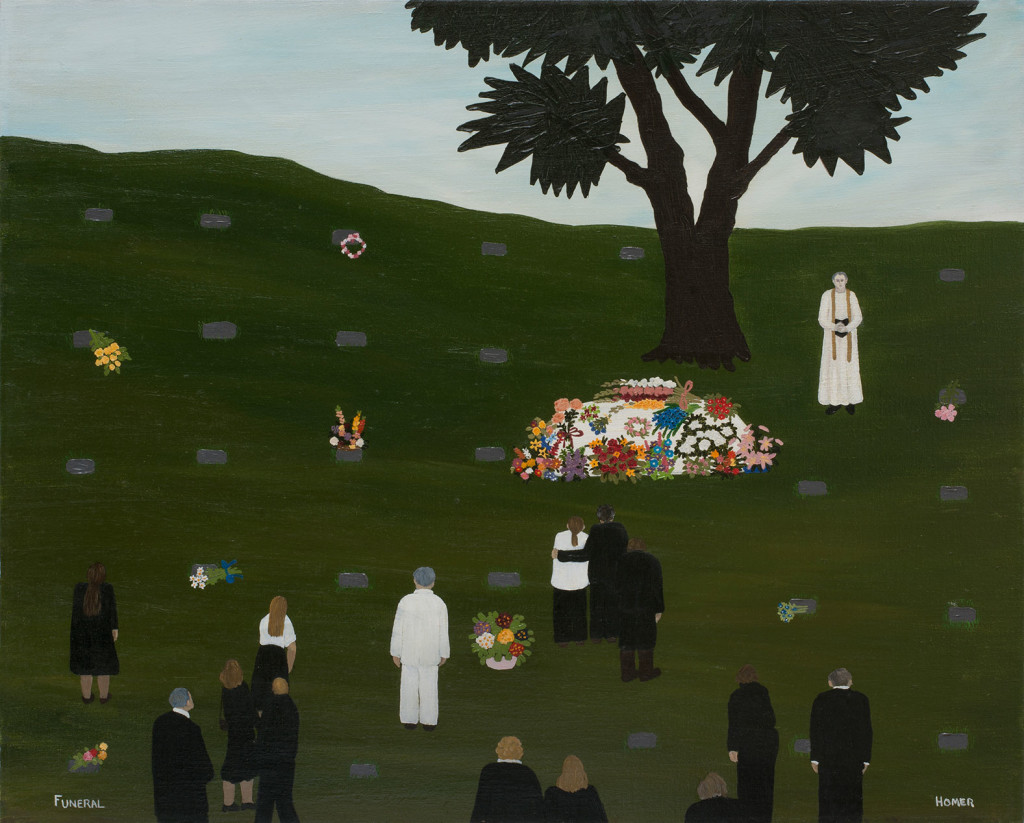 7.2 Jessie-Homer-French_Funeral_1978_Oil-on-canvas_60.5-x-76-cm_Copyright-the-artist-and-mother's-tankstation-limited