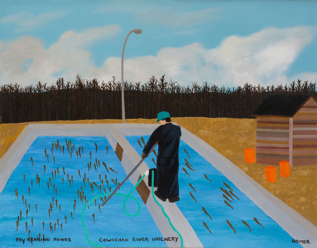 8.1 Jessie-Homer-French_Fry-Rearing-Ponds-Cowichan-River-Hatchery_1999_Oil-on-canvas_56-x-71-cm_Courtesy-the-artist-and-mother's-tankstation-limited