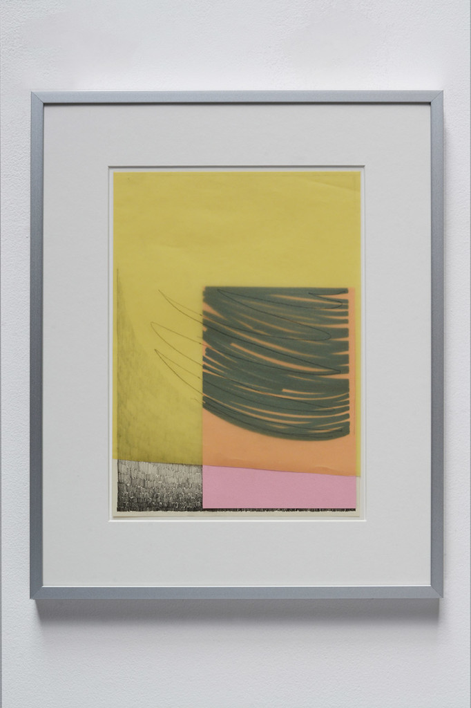14.-Brendan-Earley_Untitled-(Agnes-Martin-Kippenberger.)_2017_Pencil-on-paper-with-coloured-paper_44.1-x-35.6-cm-framed_Copyright-the-artist-and-mother's-tankstation-limited