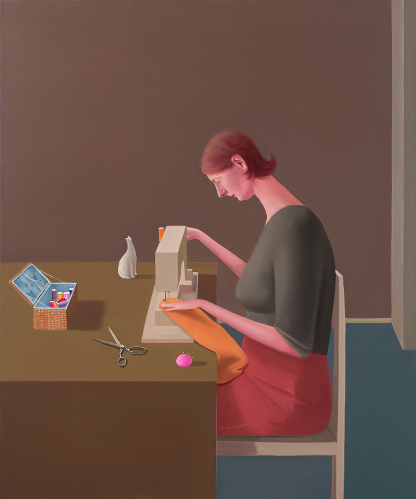 9.-Prudence-Flint_-Sewing-Machine_2012_Oil-on-linen_122-x-102-cm_Copyright-the-artist-and-mother's-tankstation-limited