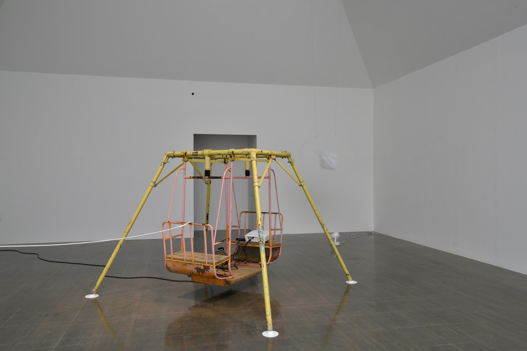 14.-YM_Publicness-of-the-Art-center---Phase-2_Art-Tower-Mito_Practice-with-Playground-Equipment_2_Installation-view_Swing,-projector
