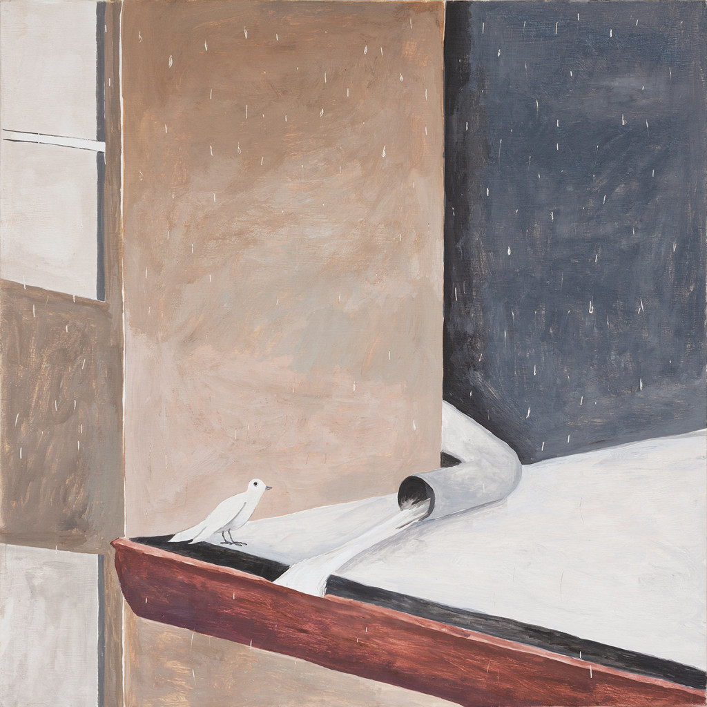 17.-Noel-McKenna_Bird-on-roof-in-rain_2019_Oil-on-plywood_42-x-44-cm_Copyright-the-artist-and-mother's-tankstation-limited