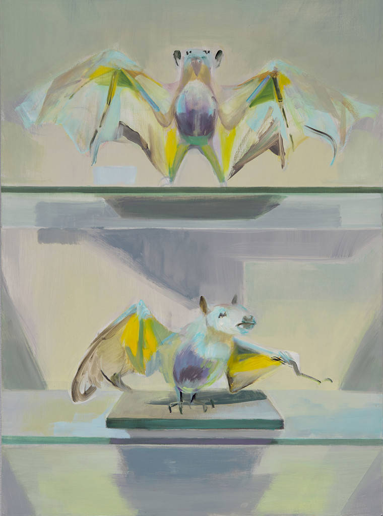 11.-Mairead O'hEocha_Two-Bats_2020_Oil on board_84 x 62 cm_Copyright the artist and mother's tankstation limited