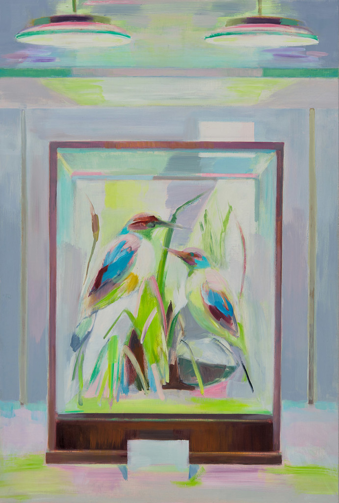 12.-Mairead O'hEocha_Two-Kingfishers_2020_Oil on board_98 x 66 cm_Copyright the artist and mother's tankstation limited