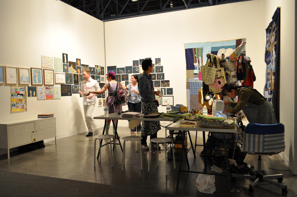 2.-Atsushi-Kaga_The-Nerd-Bag-Factory_ABMB-2012_Installation-view_2_Copyright-the-artist-and-mother's-tankstation-limited