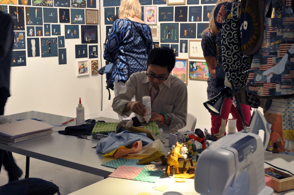 4.Atsushi-Kaga_The-Nerd-Bag-Factory_ABMB-2012_Installation-view_4_Copyright-the-artist-and-mother's-tankstation-limited