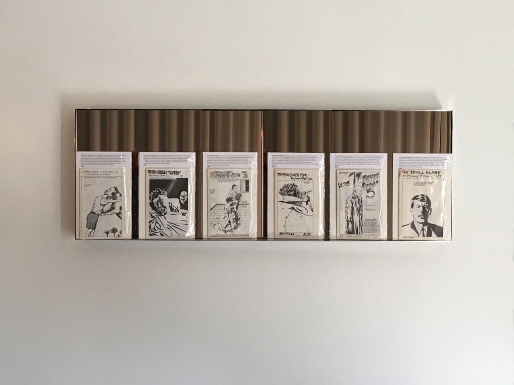 4.-Felix-LA-2020_Installation-view_Raymond-Pettibon-zines_Copyright-the-artist-and-mother's-tankstation-limited