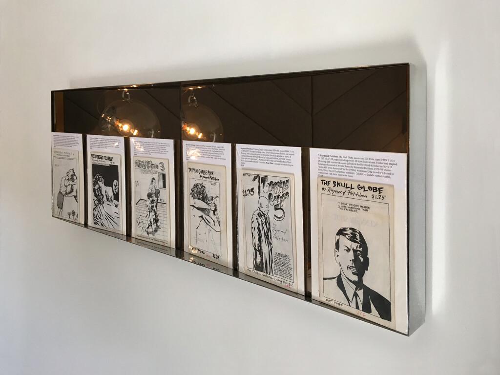 5.-Felix-LA-2020_Installation-view_Raymond-Pettibon-zines_Copyright-the-artist-and-mother's-tankstation-limited