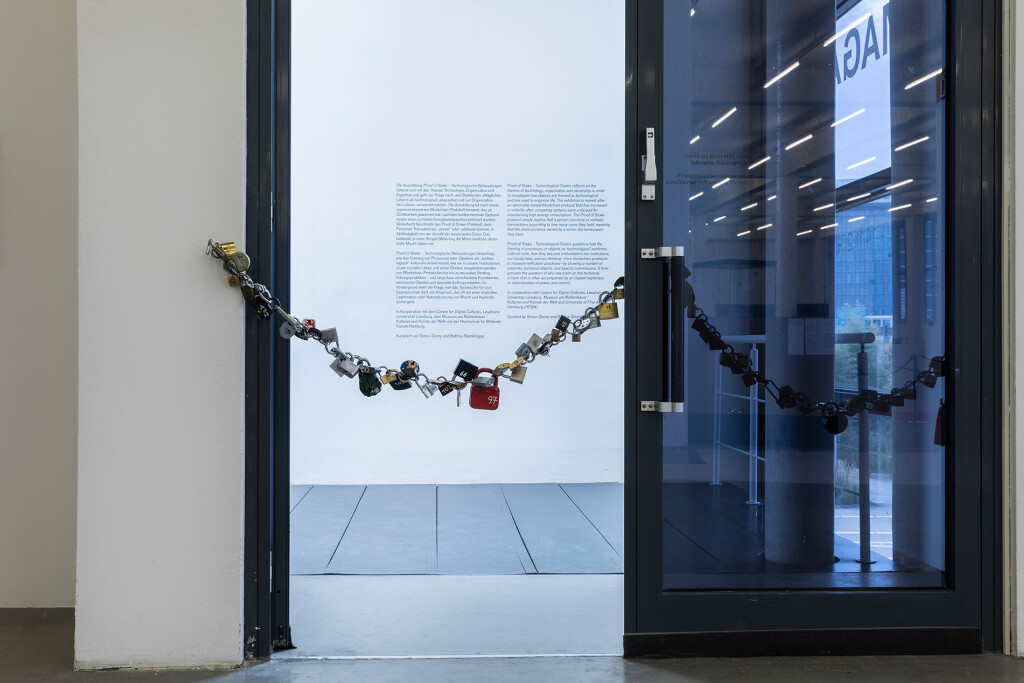 5.-YP_Lockchain-(1-out-of-n-locks)_Proof-of-stake,-Kunstverein-Hamburg_Installation-view_Copyright-the-artist-and-mother's-tankstation-limited