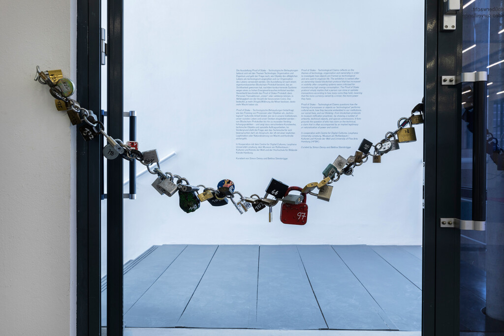 6.-YP_Lockchain-(1-out-of-n-locks)_Proof-of-stake,-Kunstverein-Hamburg_Installation-view_Copyright-the-artist-and-mother's-tankstation-limited